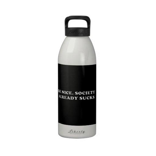 Sea Niza. La sociedad chupa ya Botellas De Agua Reutilizables