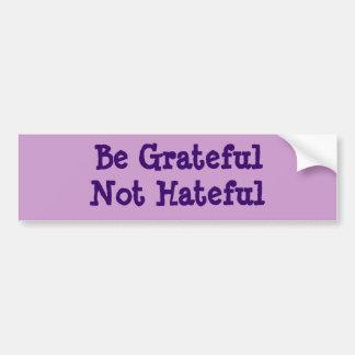 Sea no odioso agradecido pegatina de parachoque