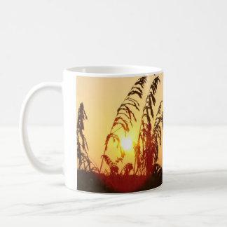 Sea Oat Sunrise Classic White Coffee Mug