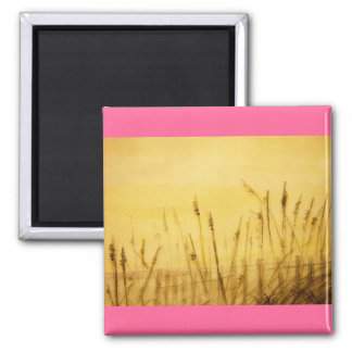 sea oats 2 inch square magnet