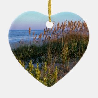 Sea Oats and Beach Ceramic Ornament