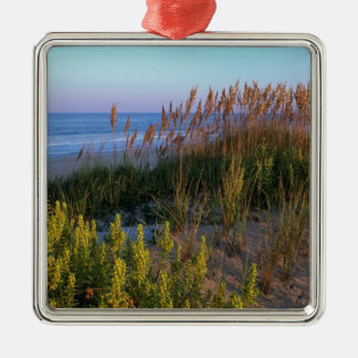 Sea Oats and Beach Metal Ornament