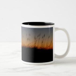 Sea Oats and Dunes at Sunset Two-Tone Coffee Mug