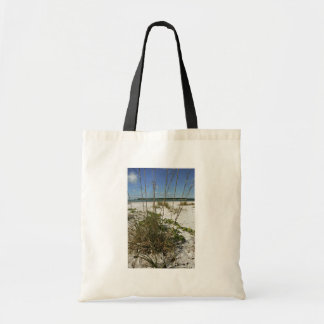 Sea oats and other beach vegetation canvas bags