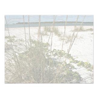 Sea oats and other beach vegetation custom invite