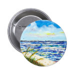Sea Oats and Skyway Pinback Button