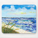 Sea Oats and Sunshine Skyway Tampa Bay Florida Mousepads