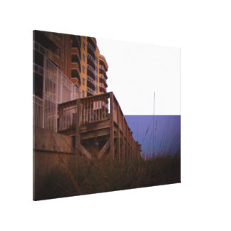 Sea Oats at Resort Beach Access Wall on Beach Canvas Print