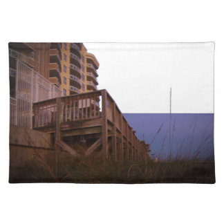 Sea Oats at Resort Beach Access Wall on Beach Cloth Placemat