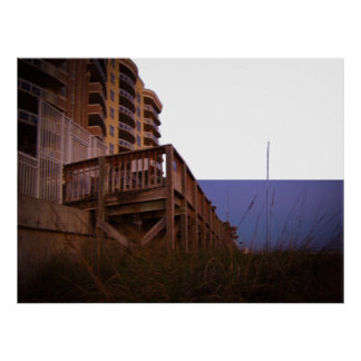 Sea Oats at Resort Beach Access Wall on Beach Poster