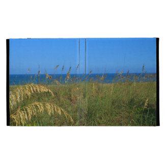 Sea oats beach dune ocean and sky photo iPad folio covers