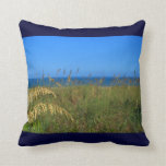 Sea oats beach dune ocean and sky photo throw pillows