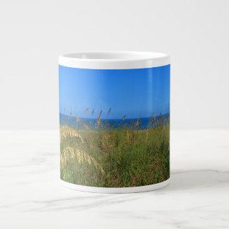 Sea oats beach dune ocean and sky photo 20 oz large ceramic coffee mug