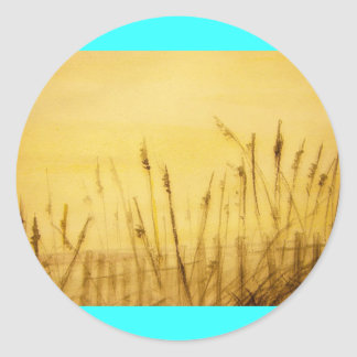 sea oats classic round sticker