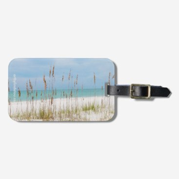 Beach Themed Sea Oats Luggage Tag