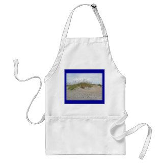 Sea Oats on Sand Dune Outer Banks NC Adult Apron