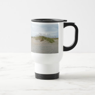 Sea Oats on Sand Dune Outer Banks NC 15 Oz Stainless Steel Travel Mug