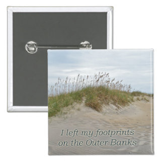Sea Oats on Sand Dune Outer Banks NC Pinback Button