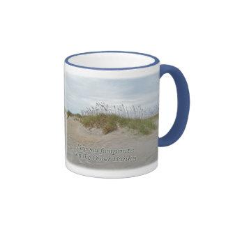 Sea Oats on Sand Dune Outer Banks NC Ringer Coffee Mug