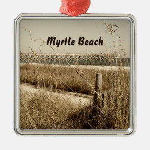 Sea Oats On The Dunes At Myrtle Beach Metal Ornament