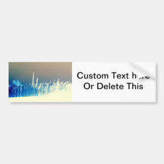 sea oats outline yellow abstract beach image bumper sticker