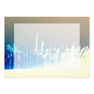 sea oats outline yellow abstract beach image personalized announcements