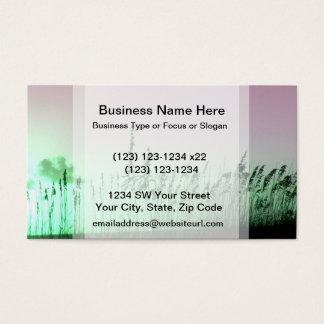 sea oats red green florida sunrise business card