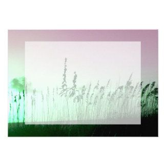 sea oats red green florida sunrise personalized announcements