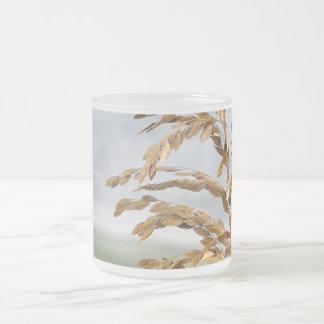 Sea Oats, Sea Breeze 10 Oz Frosted Glass Coffee Mug