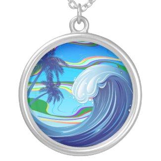 Sea Ocean big Wave Water necklace