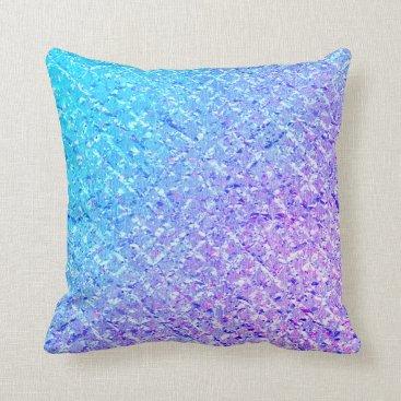 Sea Ocean Blue Marine Aqua Turquoise Ombre Purple Throw Pillow