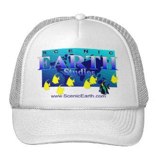Sea Ocean Earth Blue Aquatic Ocean Baseball Cap Trucker Hat