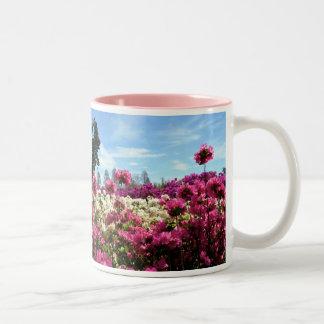 Sea of Azaleas Two-Tone Coffee Mug