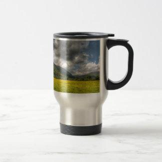 Sea of buttercups: The Lake District, Cumbria Travel Mug