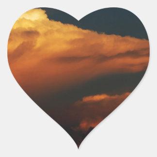 Sea of Clouds Heart Sticker