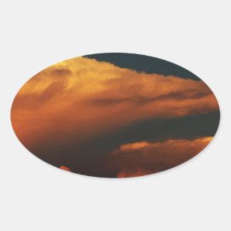 Sea of Clouds Oval Sticker
