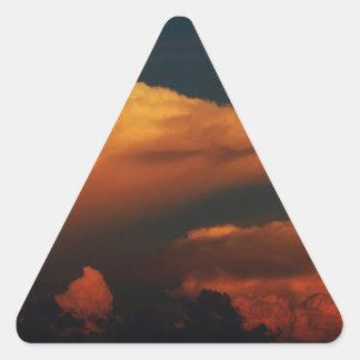 Sea of Clouds Triangle Sticker