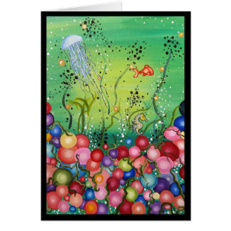 Sea of Color- Greeting Card, Missing You Card