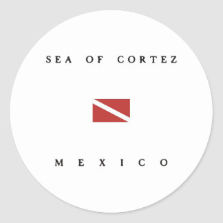 Sea of Cortez Mexico Scuba Dive Flag Classic Round Sticker