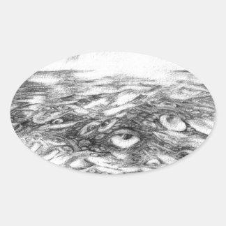 Sea Of Eyes Oval Sticker
