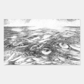 Sea Of Eyes Rectangular Sticker