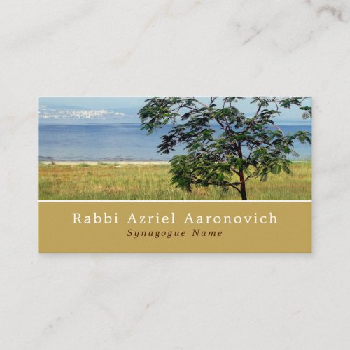Sea of Galilee, Israel, Judaism, Religious Business Card
