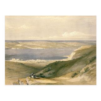 Sea of Galilee or Genezareth, looking towards Bash Postcard