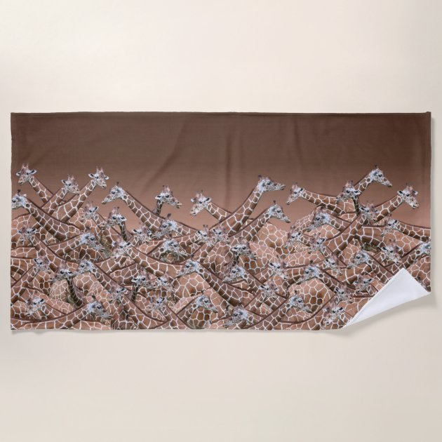 Studio Dalio - Sea of Giraffes Beach Towel