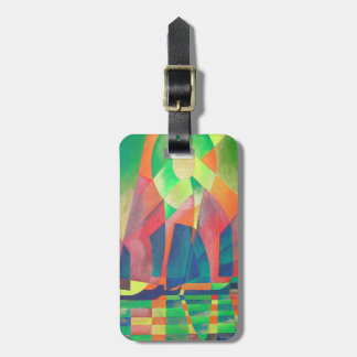 Sea of Green With Cubist Abstract Junks Luggage Tag