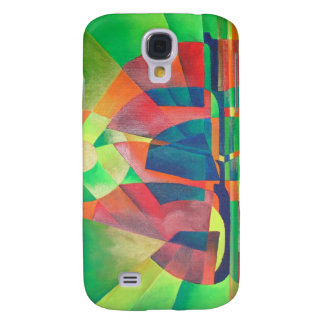 Sea of Green With Cubist Abstract Junks Samsung Galaxy S4 Case
