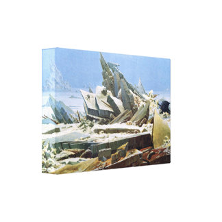 Sea of Ice by Friedrich - Stretched Canvas Gallery Wrapped Canvas