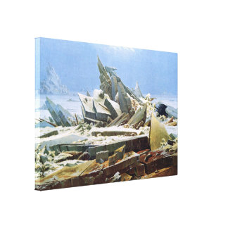 Sea of Ice by Friedrich - Stretched Canvas Stretched Canvas Prints