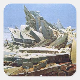 Sea of Ice - Das Eismeer - La Mer de Glaces Square Sticker