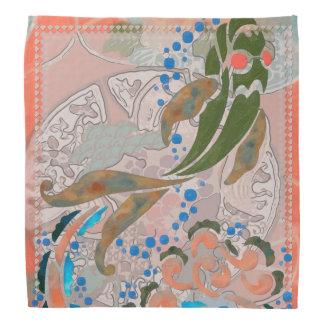 Sea of Peace Asian Folk Art Bandana